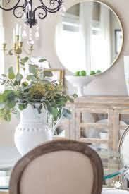 Mirror Over Buffet by Updated Breakfast Nook A Lighter Brighter Look Paint
