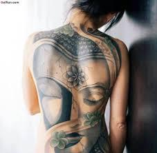 cool back tattoo of asian buddha on women back golfian com