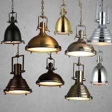Rustic Pendant Lighting Modern Retro Industrial Loft Pendant Light Vincent Chrome Country