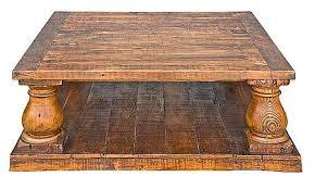turned leg coffee table turned leg coffee table directcom rustic turned leg coffee table