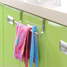 1pcs stainless steel towel bar holder over the kitchen cabinet