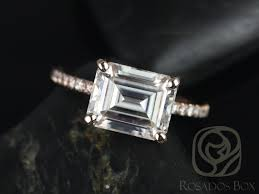 horizontal emerald cut engagement ring 10 east west engagement rings that melt our gem hunt