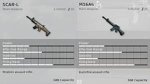 pubg gun stats playerunknown s battlegrounds is the m16a4 better than the scar