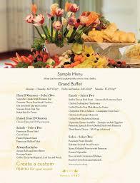 Sample Buffet Menus by Sample Wedding Menu