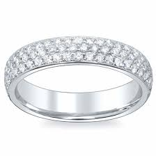 eternity wedding bands 3 row pave diamond eternity wedding bands 4 5mm