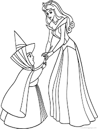 aurora flora fauna merryweather coloring pages