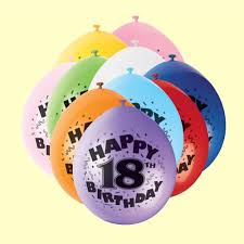 balloons for 18th birthday 18th birthday balloons in packs of 10 party wizard