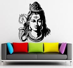 cheap price god shiva india hindu religion wall decals home decor