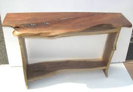 natural wood console table custom wood tables wood genius clyde haymore mount airy nc