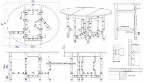 gateleg table plan