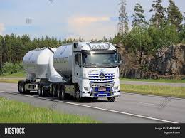 mercedes truck white paimio finland june 3 2016 image u0026 photo bigstock