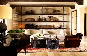apartments picturesque brown transitional living room earth tone
