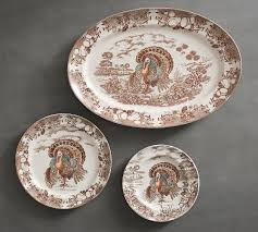 ceramic turkey platter traditional turkey platter pottery barn