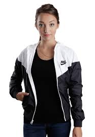 nike windbreaker nike the windrunner black white black jacket streetwear