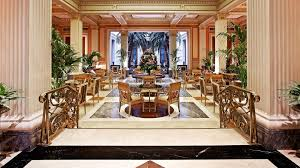 winter garden city lounge at hotel grande bretagne athens