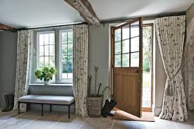 Entry Door Curtains Front Door Curtain Ideas Entry Farmhouse With Embroidered