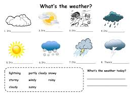 good little fill in practice for weather esl pinterest
