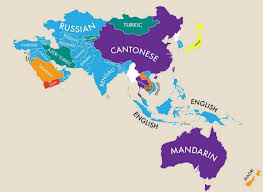 World Map Middle East by A Map Of The World According To Second Languages Indy100