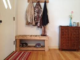 vintage entryway bench and coat rack