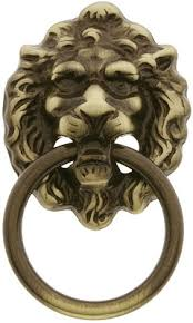 antique lion ring holder images Lion head ring pull in antique brass house of antique hardware nl