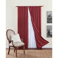 Home Depot Drapery Hardware Solaris Blackout Blackout Liner White Polyester Rod Pocket Curtain