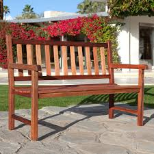 Outdoor Wooden Benches A L Furniture Red Cedar Traditional Backless Benchgarden Benches