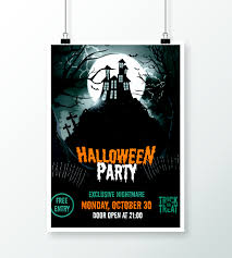 halloween part night fly templates u2013 poster creatily market