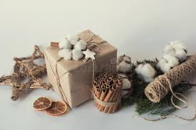 Decorative Christmas Gift Boxes Christmas Gift Boxes With Flowers And Decorative Objects Eco
