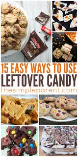 leftover candy recipes for that extra halloween candy