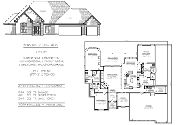 simple house plan with 2 bedrooms and garage home design ideas