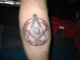 masonic tattoo my first masonic tattoo before colour paul