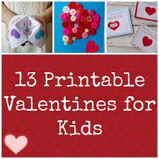 valentines cards for kids ideas for kids 13 printable valentines holidays
