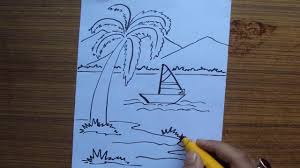 drawing for children scenery how to draw a scenery for children
