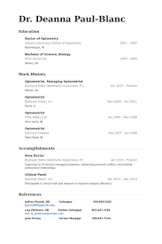 Healthcare Resume Examples by Optometry Resume Examples Healthcare Resumes Livecareer Creative