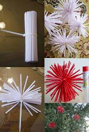 straw decorations lights card and decore