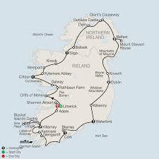 Dublin Ireland Map Tour Ireland U0026 Northern Ireland With Globus Vacations