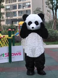 Mascot Costumes Halloween Furry Panda Mascot Costume Mascot Shows