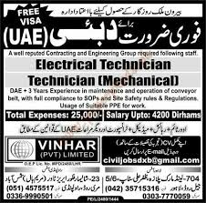 electrical engineering jobs in dubai for freshers electrical technicians technician and other jobs in dubai
