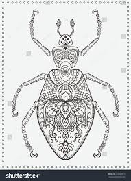 greeting card bug ornament insect made stock vector 355824575