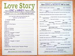 wedding mad libs 20 engagement party entertainments you will everafterguide