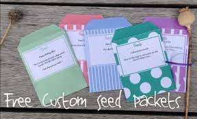 custom seed packets free seed packet templates the enduring gardener