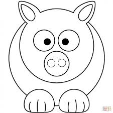 pig coloring pages cartoon pictures pigs color cartoons