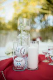 themed wedding centerpieces stylist ideas baseball centerpieces featured wedding drew s