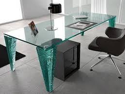 Glass Desk Office Glass Desk Table Modern Furniture Home Office Student With Drawers