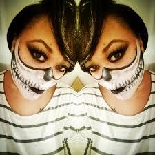 skeleton mask halloween makeup u2013 beauty by elyse
