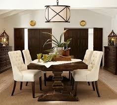 farmhouse table modern chairs banks extending dining table pottery barn 35 dining room