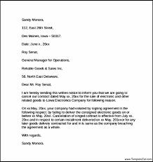 contract cancellation letter templatezet