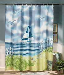 Outdoors Shower Curtain by Bathrooms Design Stunning Blue Long Rustic Fabric Beach Themed
