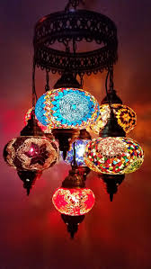 Handmade Chandelier by Multicolor Handmade 7 Balls Moroccan Mosaic Hanging Lamp Lantern