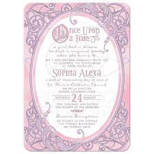 quinceanera invitation wording pink purple fairy tale quinceañera invitation once upon a time
